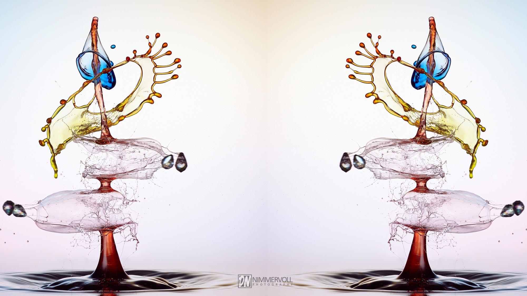 Highspeed Fotografie - Liquid Art Wassertropfen - Nimmervoll background image