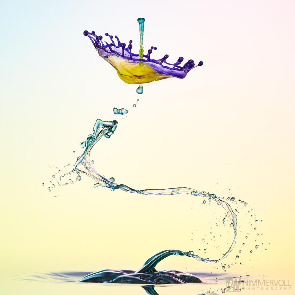 Liquid Art, Nimmervoll, Splash, Tropfenkunst, Wasserskulptur, drop, droplet, highspeed, tropfen, wasser, highspeed, tropfenkollision, liquidart